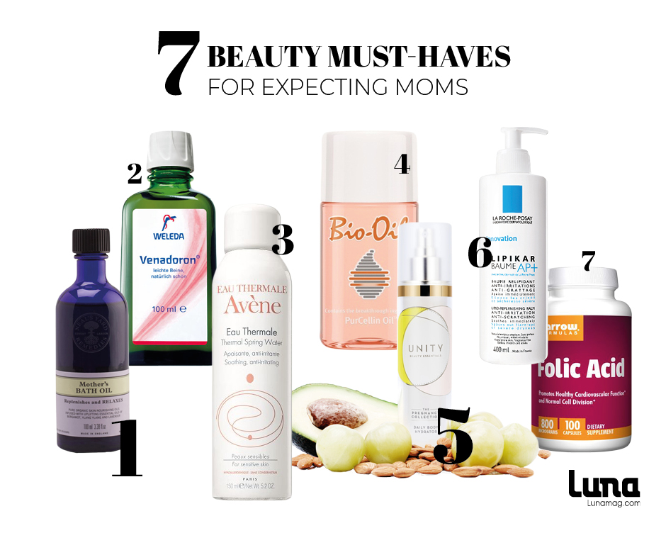 Beauty must haves pregnancy