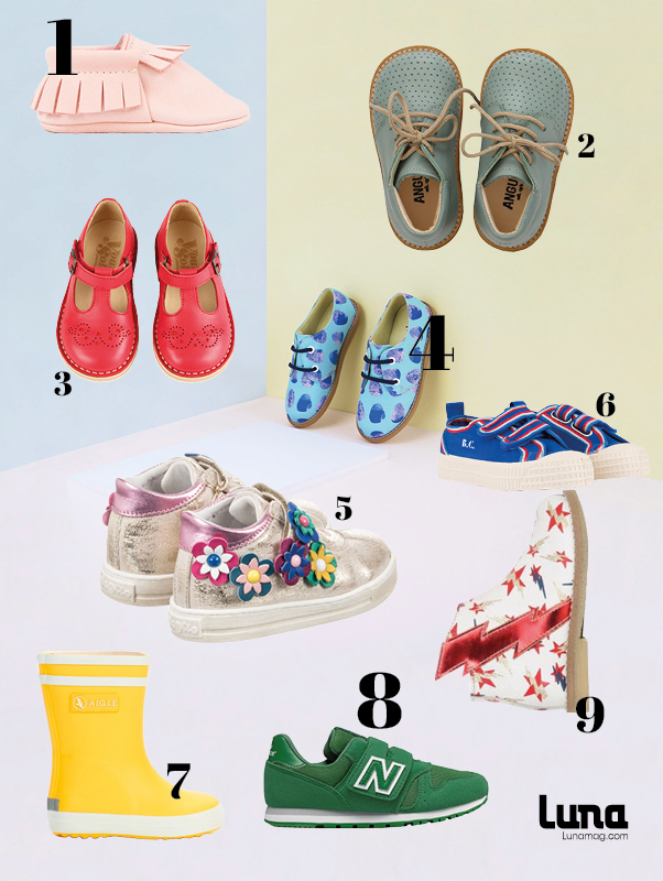 Colourful children's shoes