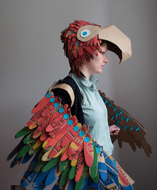 Wearable Bird Wings and Parrot Hat