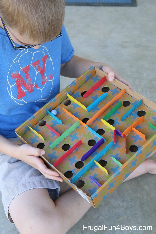 cardboard box labyrinth