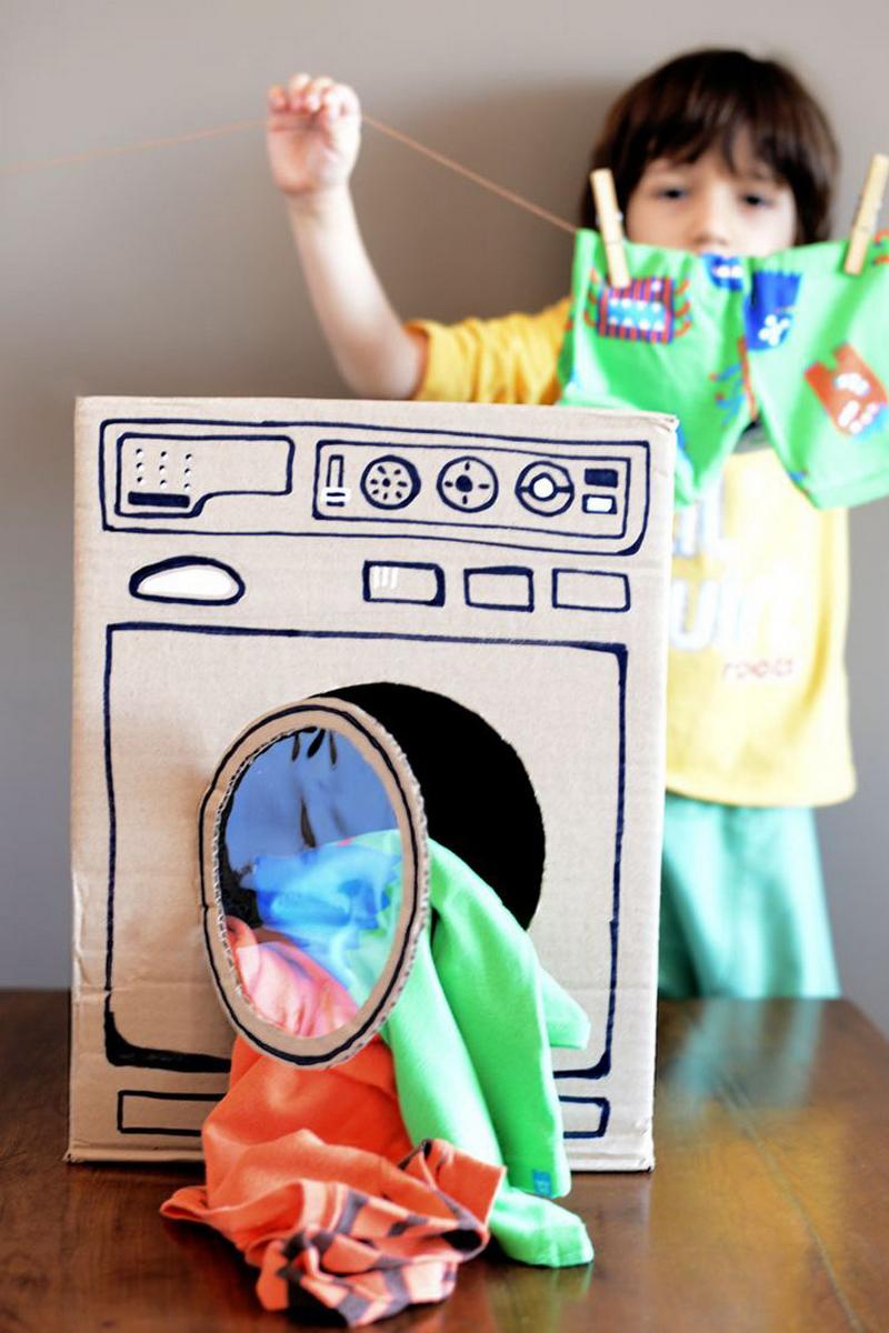 cardboard washing machine