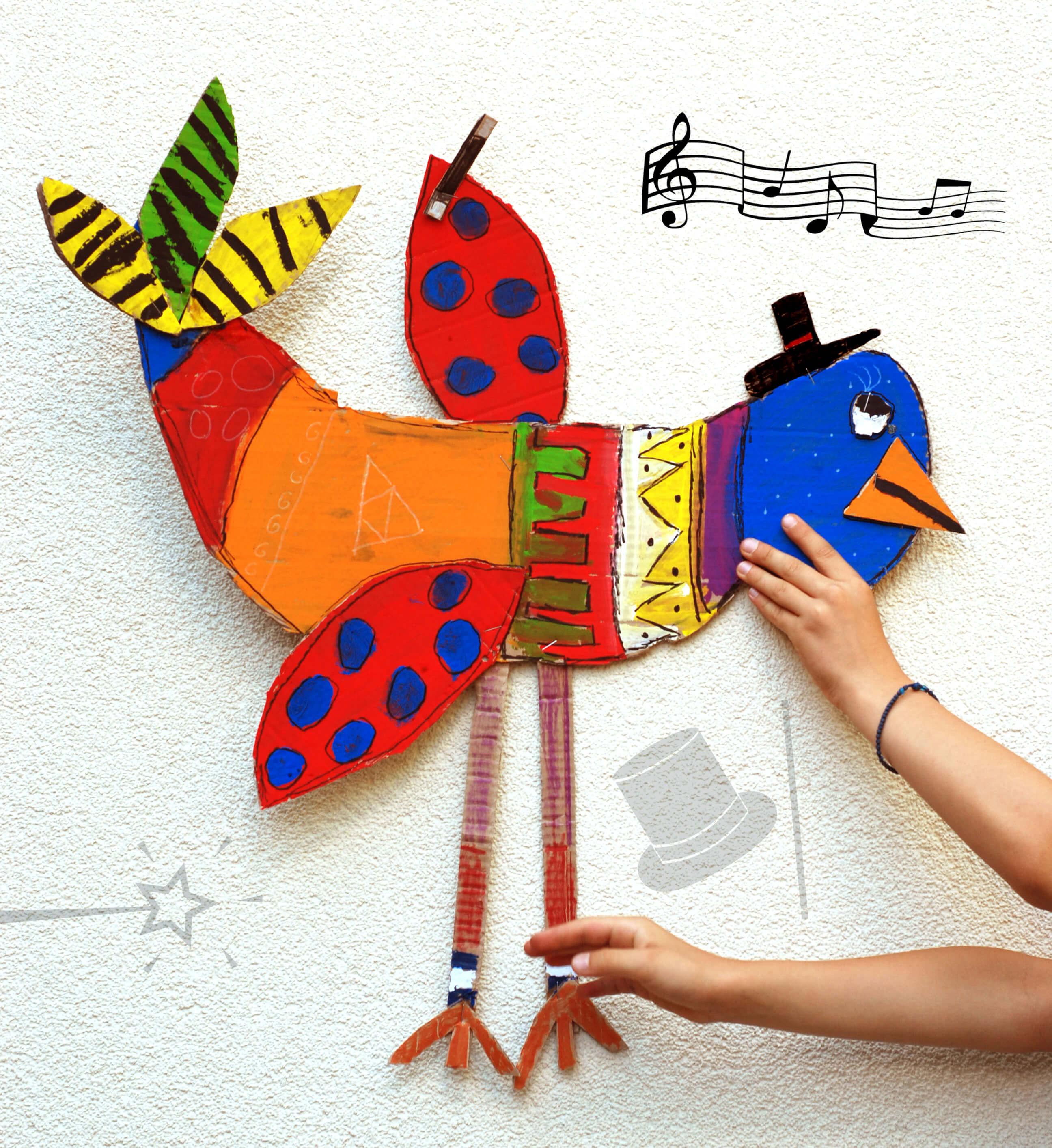 giant cardboard birds
