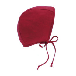 3. Red bonnet handmade from 100% linen.