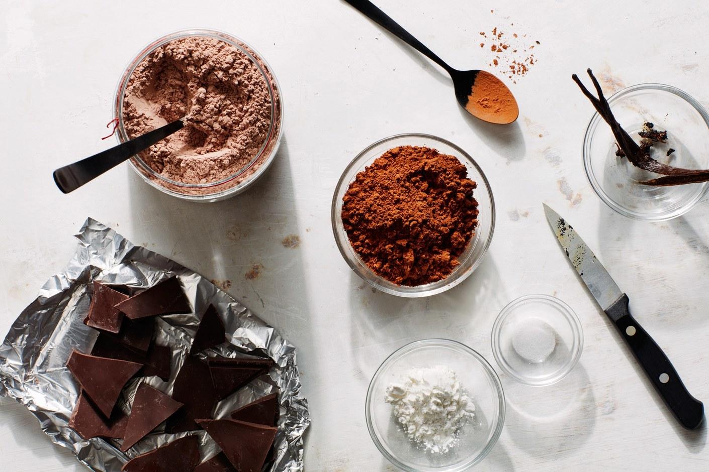 Hot chocolate 5 different ways