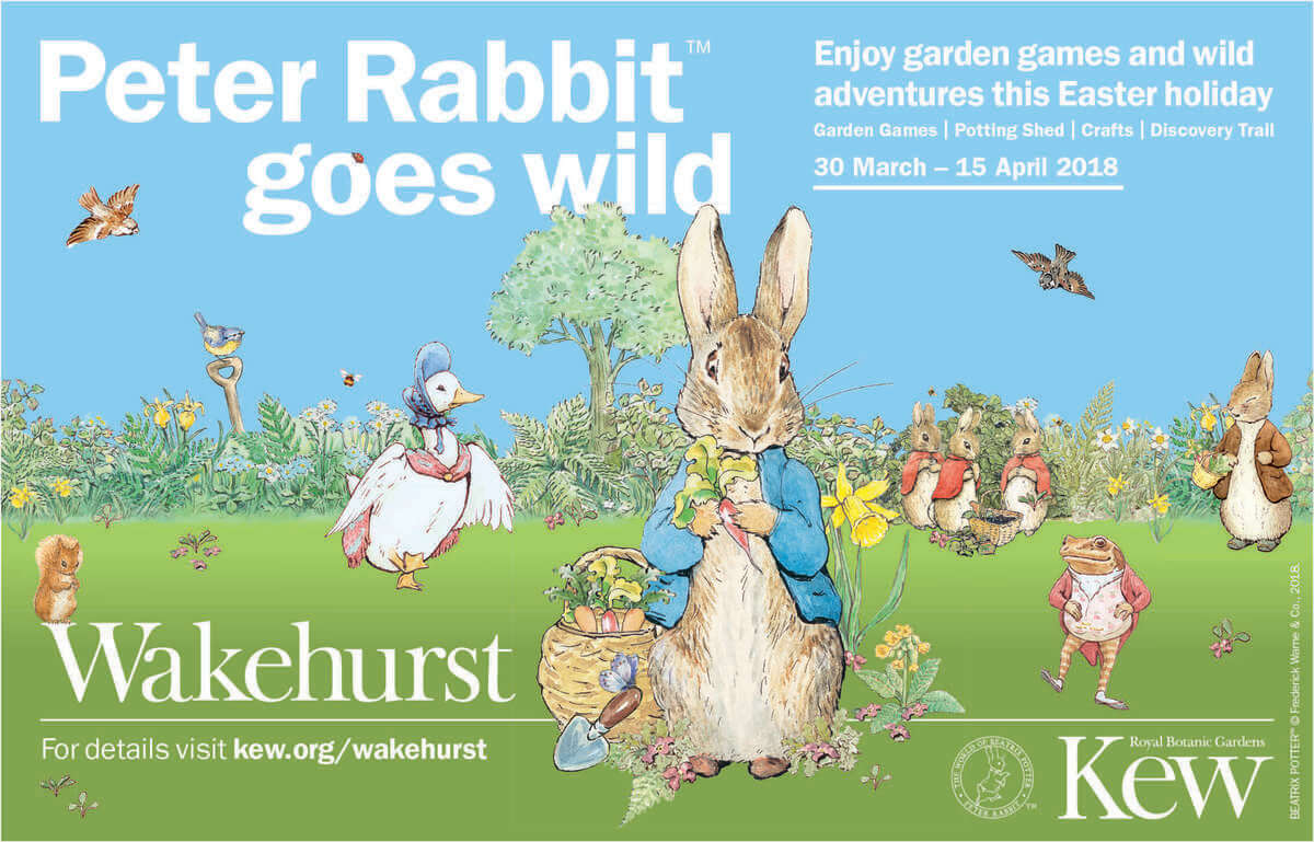 Peter Rabbit at Kew Gardens this Easter
