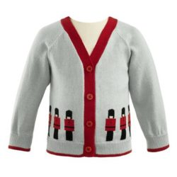 soldier baby cardi
