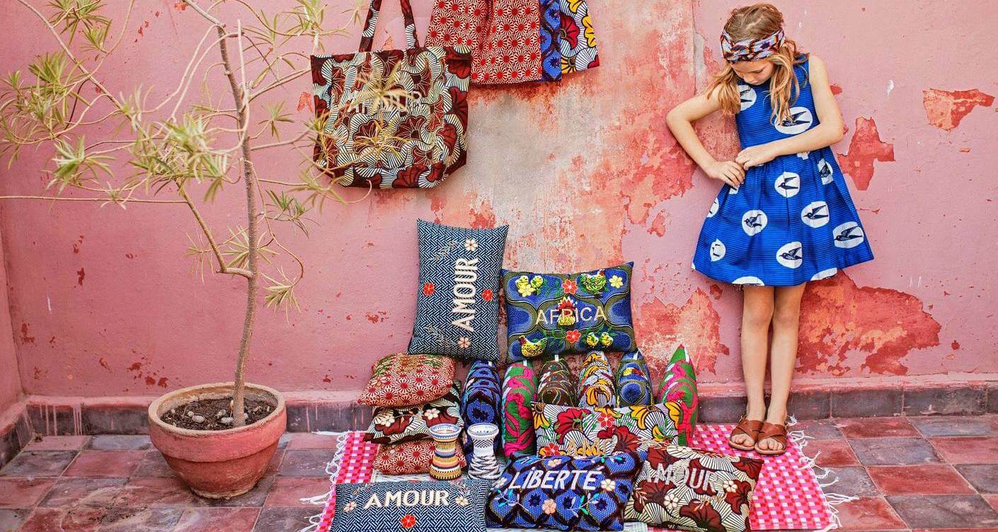 An exclusive line highlighting traditional African fabrics