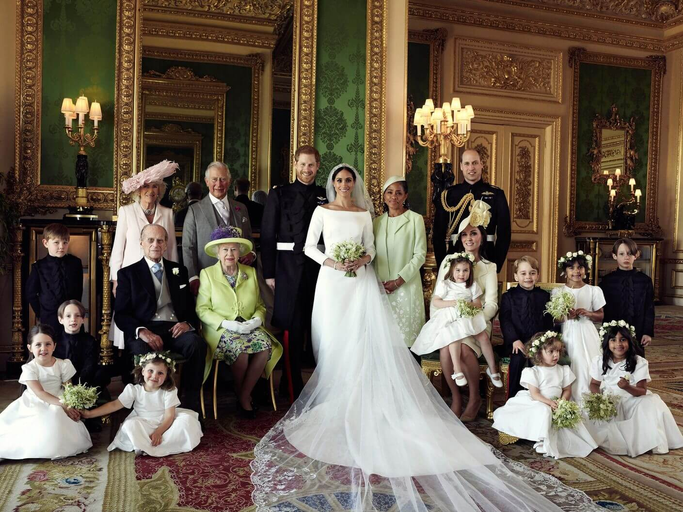Official Royal Wedding photos and the kids steal the show2