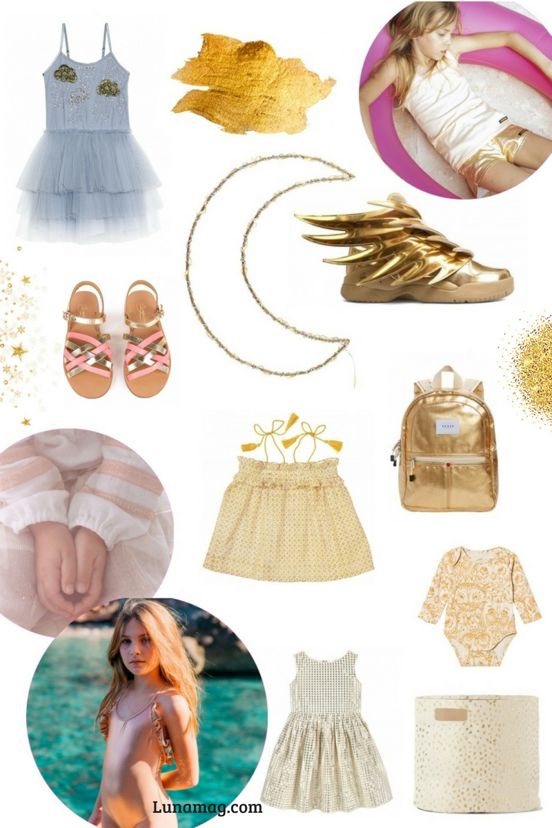 Children's fashion trend: Gold