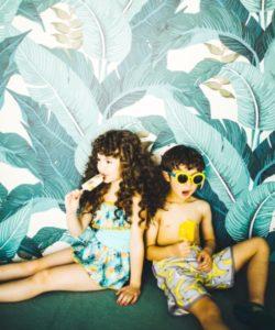Kids swimwear by Japanese kids fashion brand Green Label Relaxing by United Arrows