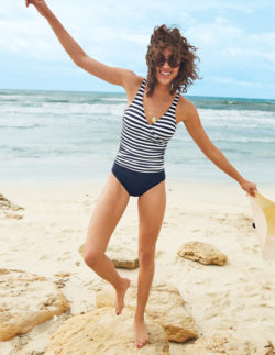 boden striped swimsuit