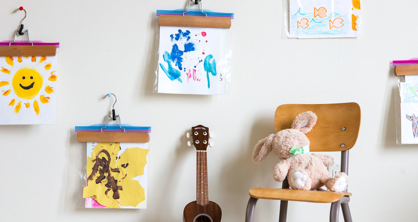 10 Unusual And Clever Ideas To Display Your Children S Art Lunamag Com