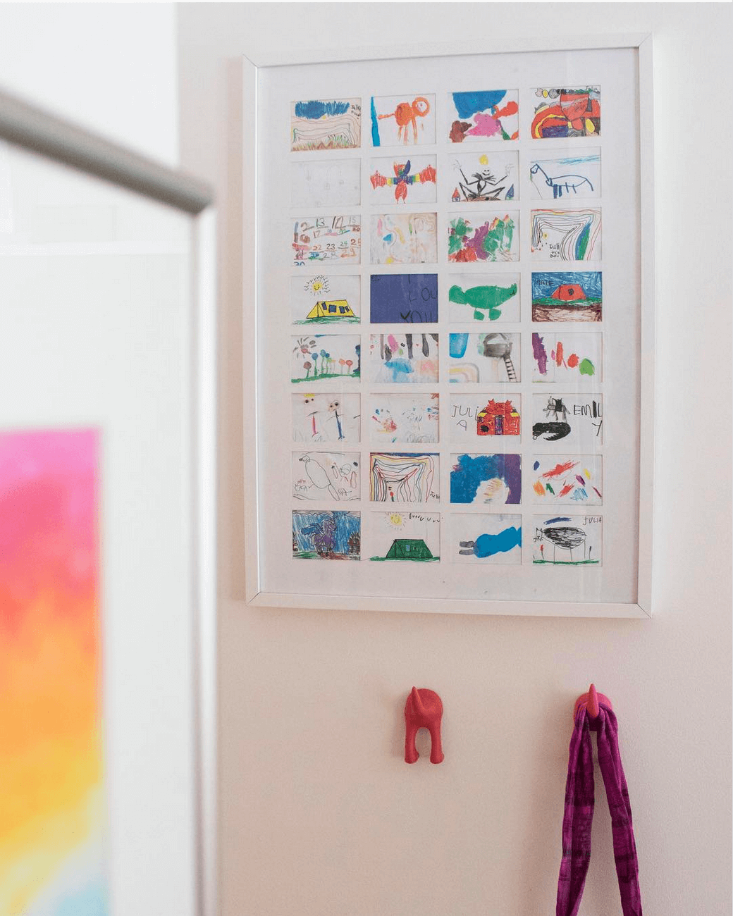 10 unusual and clever ideas to display your children's art