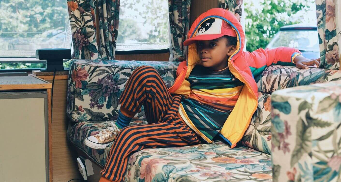 Retro Campers kids fashion editorial