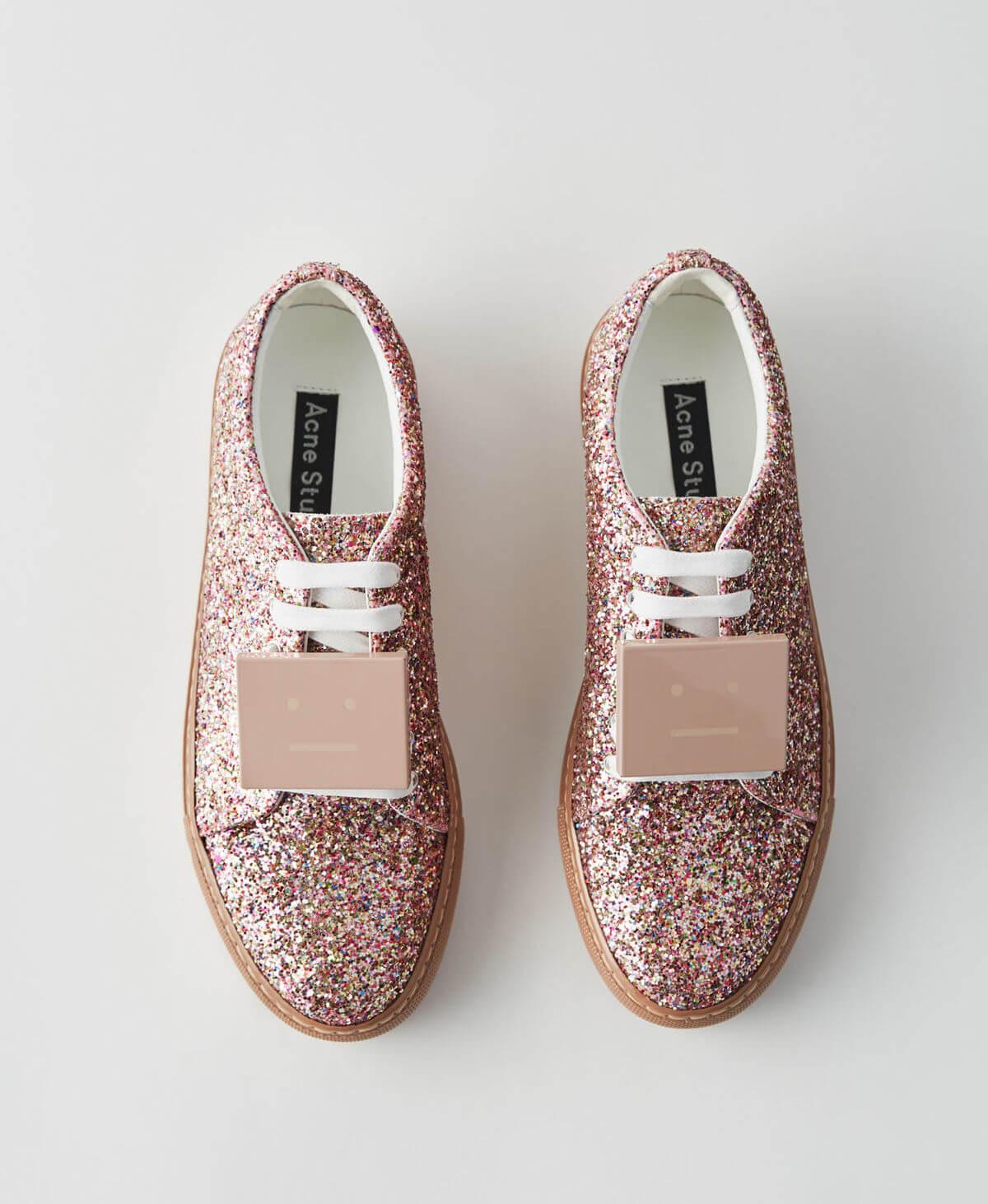acne sneakers glitter