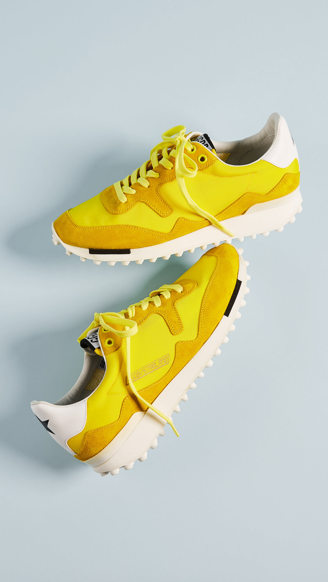 golden-goose-starland-joggers yellow