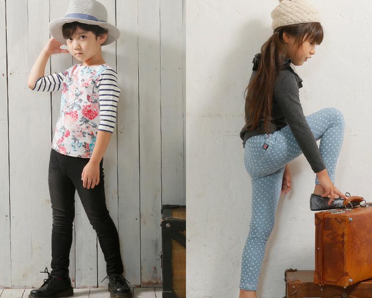 Japanese kids popular fashion brand Toridory skinny jeans