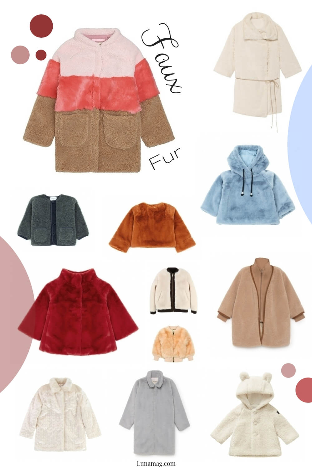 Lunamag.com: faux fur - children fashion trend this winter