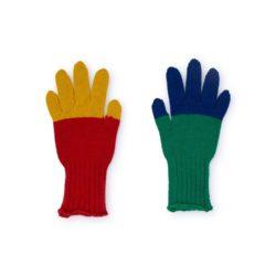 colour block gloves bobo choses