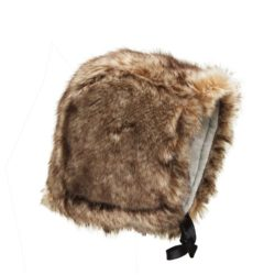 faux fur baby bonnet