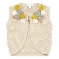 knitted flower waistcoat