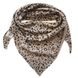 leopard knitted scarf