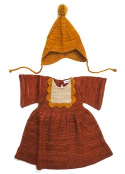 misha puff knitted dress