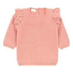 ruffled knitted jumper for kids