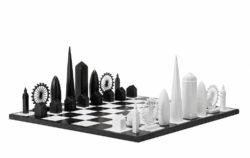 chess game london skyline