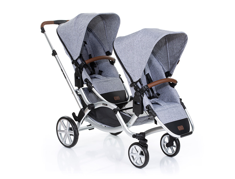 abc design zoom double pushchair
