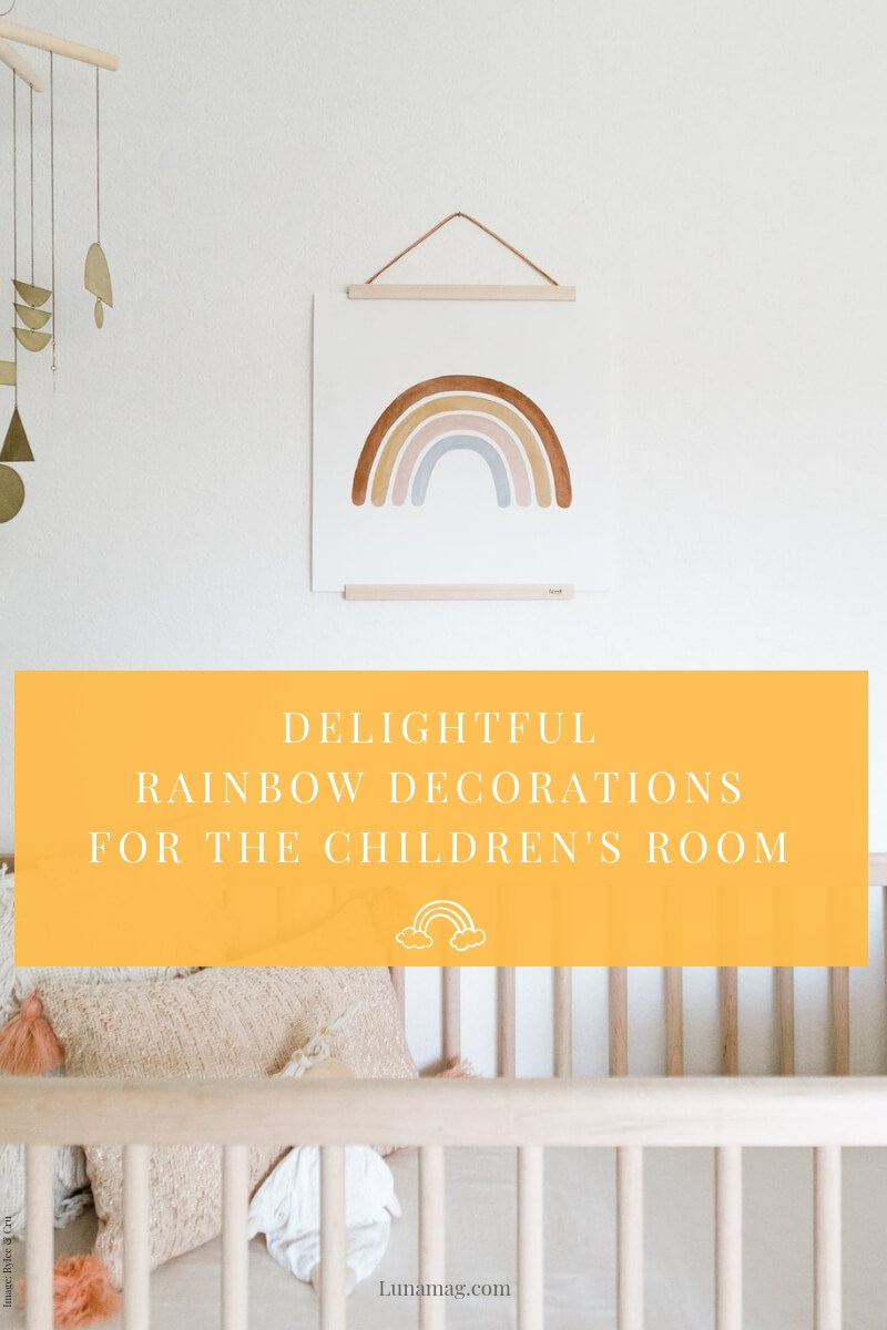 Delightful rainbow decorations for the children's room