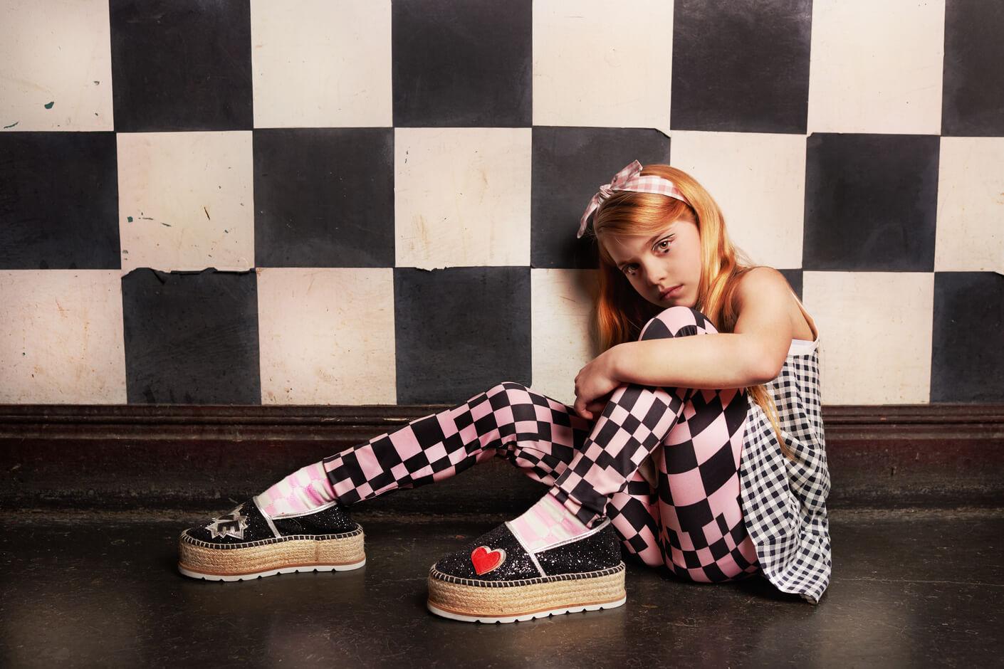 children's fashion editorial Blue Monday