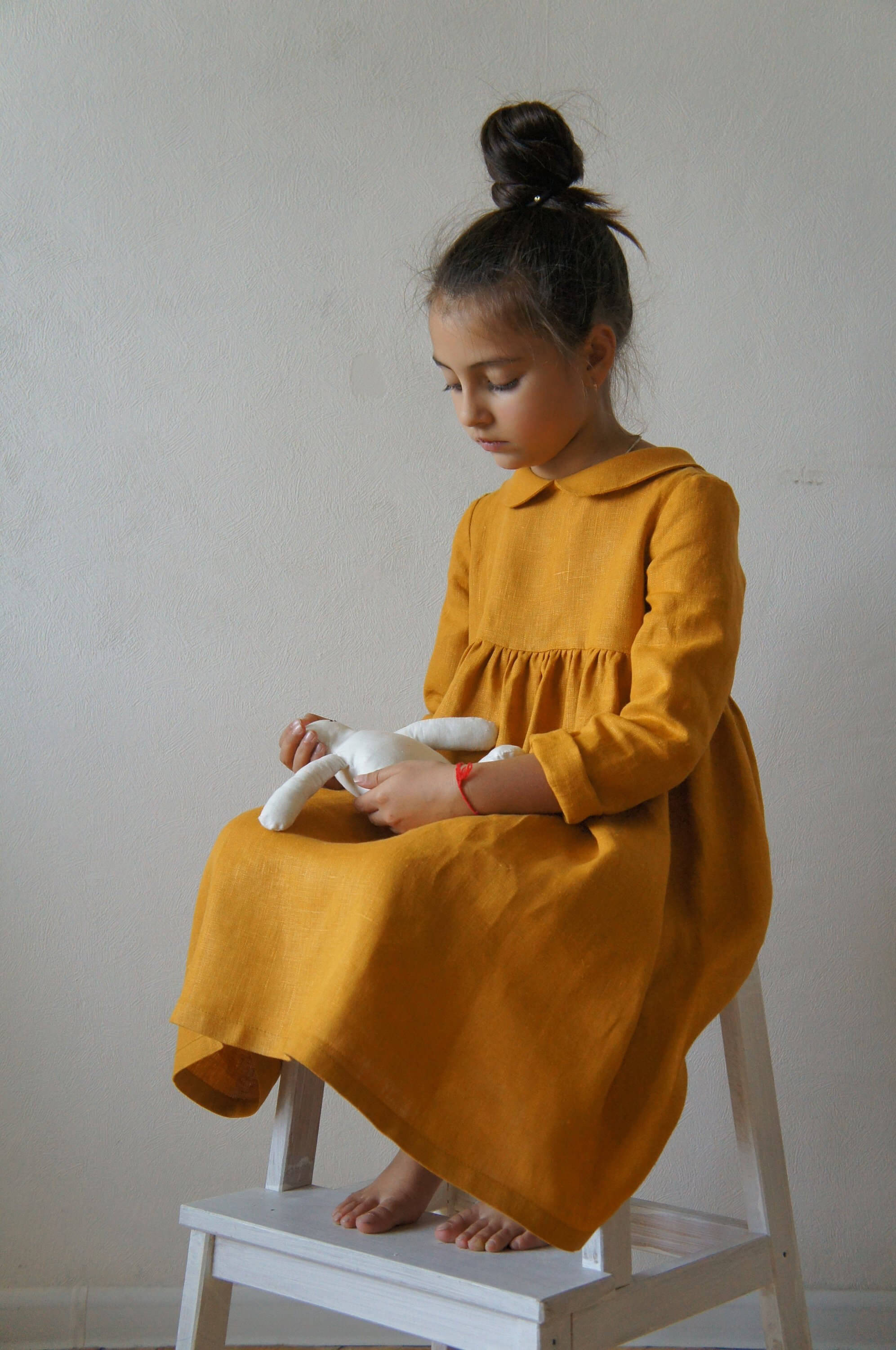 linen dress peter pan collar
