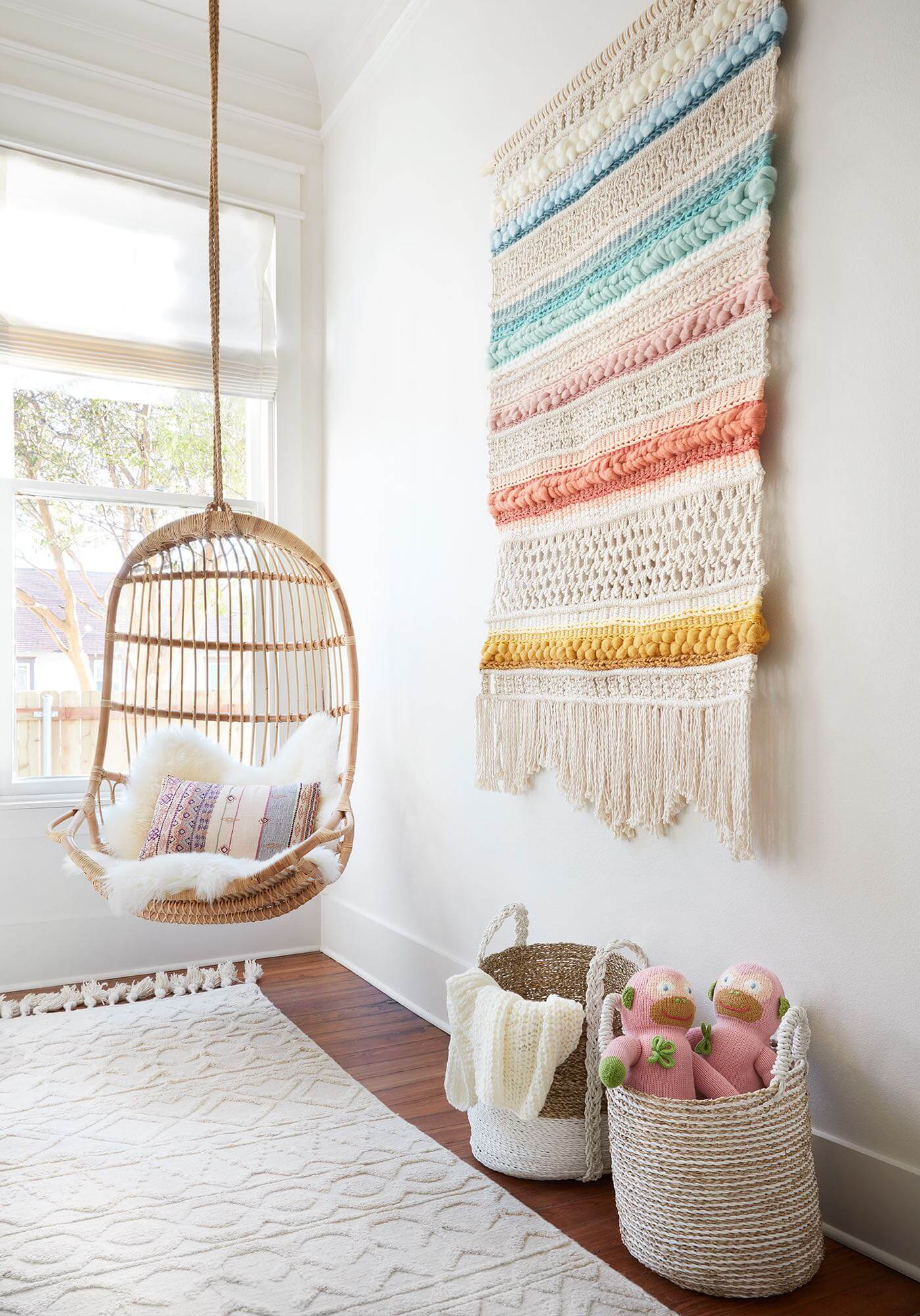 rainbow wall hanging tapestry