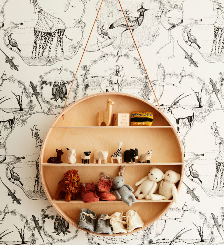 ferm living round kids shelf