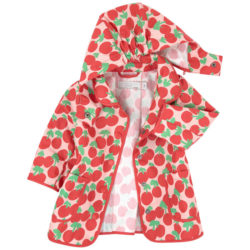 cherry print raincoat