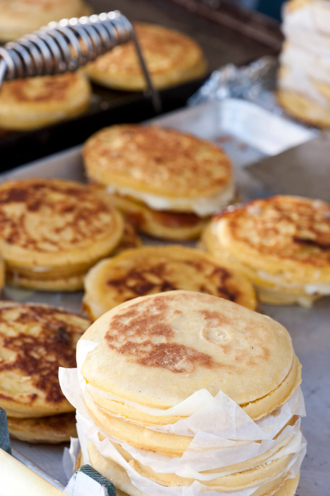 Arepas Colombia family breakfast