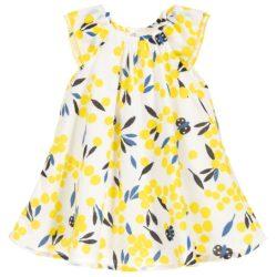 catimini-yellow-cotton-dress-