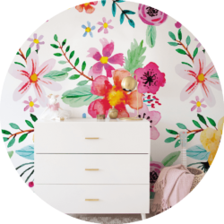 removable floral wallpaper kids